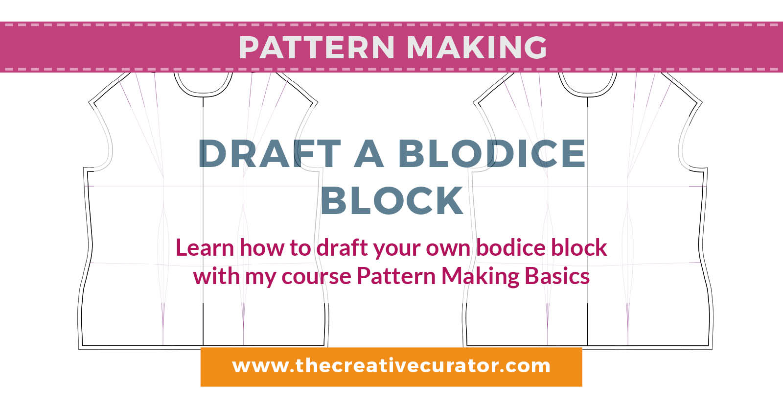Learn how to draft a bodice block using your own measurements for a better fitting bodice sloper! - The Creative Creator