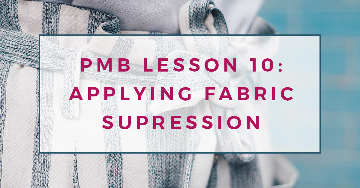 Pattern making basics: Lesson 10. Applying fabric suppression to blocks to create patterns.