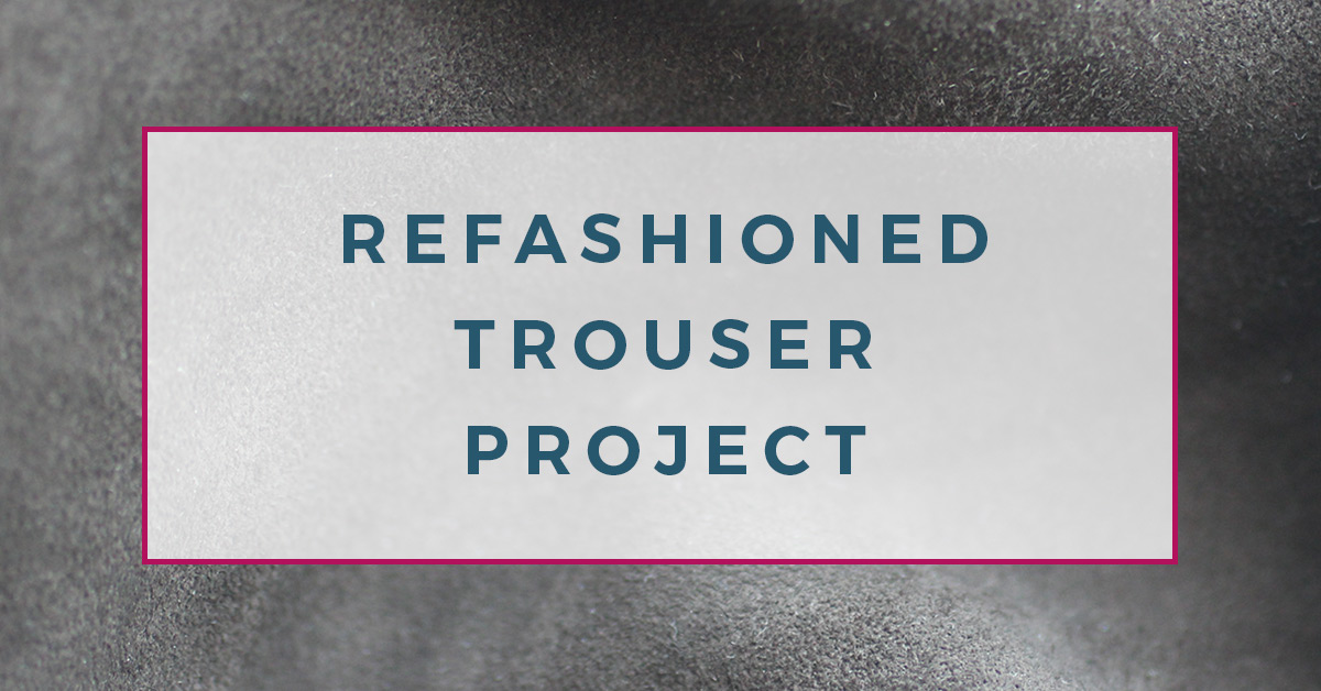 Learn how to make refashioned trousers. These striped banana pants are super comfy and fun to make! - The Creative Curator