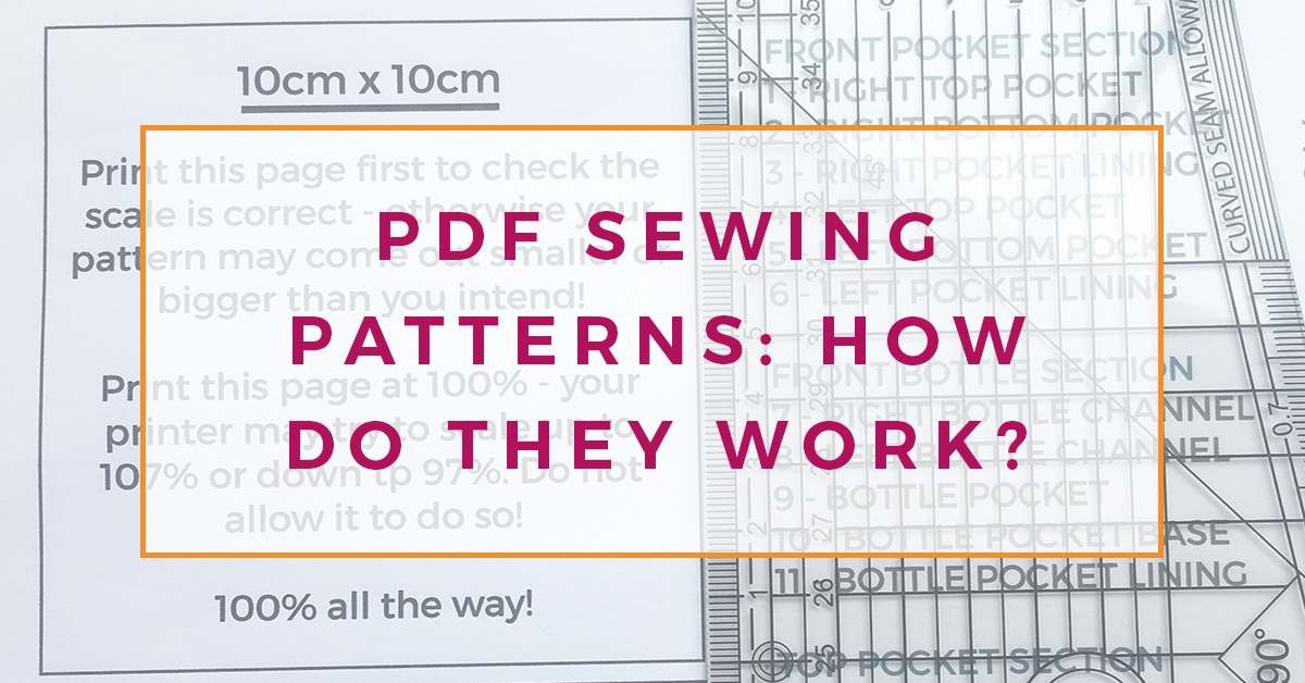 Learn all about printing PDF sewing patterns at home using you home printer, so you can make DIY clothes for yourself!